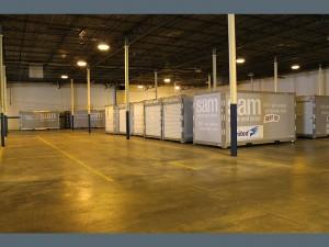 storage pods in a garage